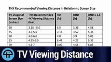 Led Tv Distance Chart Thx Recommended Tv Viewing Distance Youtube