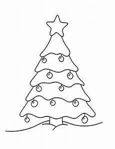 ausmalbilder weihnachten weihnachtsbaum mit kugeln
