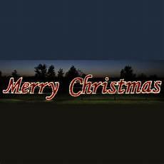 42 white merry christmas commercial led light display