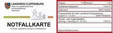 Adac Karte Verloren - soziales cloppenburg notfallkarte f 252 r kinder und jugendliche