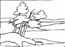 malvorlagen landschaften gratis und original kahle und volle baeume ausmalbild malvorlage landschaften