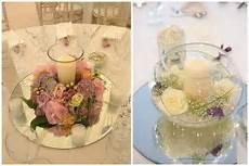 candele per matrimoni centrotavola romantico tema matrimonio specchio fiori