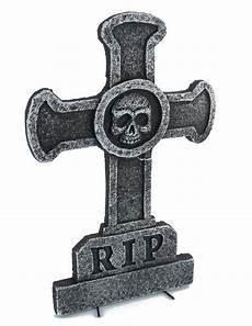 décoration tombale d 233 coration tombale croix avec t 234 te de mort 39 x 58