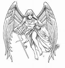 ausmalbilder fabelwesen fantasie engel engel
