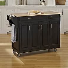 home styles black scandinavian kitchen carts at lowes com