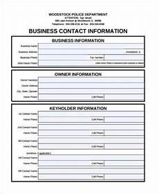 free 8 contact form sles pdf