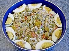 thunfisch reis salat mit pute und ei golddrache