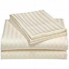 com damask stripes ivory 300 thread count extra size sheet 100 cotton
