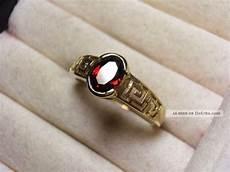 alter 333 gold ring mit granat herrenring 19 mm