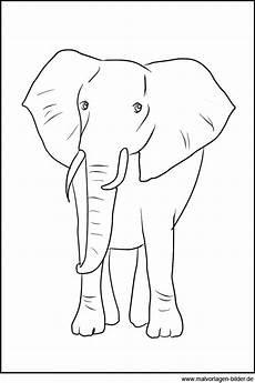 elefant ausmalbild zum ausdrucken