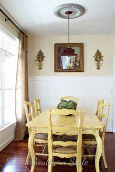 Yellow Dining Room Table parade of homes savvy southern style yellow painted