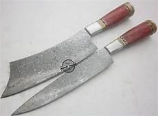 Kitchen Knives Lot Of 2 Pcs Damascus Kitchen Knife Custom Handmade