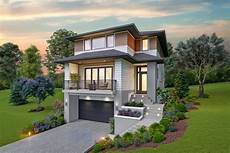 house plans sloped lot contemporary house plan for the up sloping lot 69734am