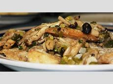 pan seared fish with mushrooms and scallions_image