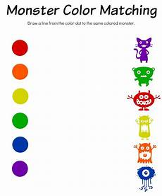 monster math color match bingo free printable worksheets