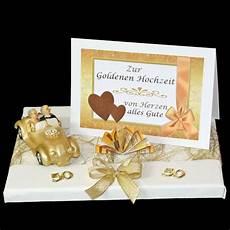 geschenk geldgeschenk zur goldenen hochzeit goldene