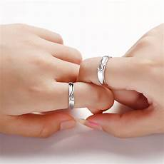 two half hearts puzzle couple rings for and men sterling silver love heart promise