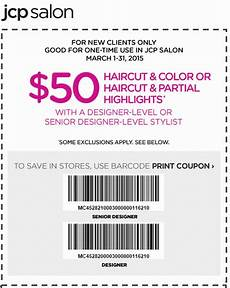 jcpenney printable coupons haircut color or haircut partial highlights for 50 kohls
