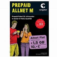 congstar allnet m 10 guthaben 1 5 gb flat handy prepaid