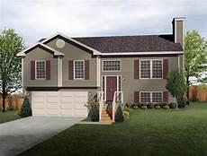 Split Level House Plan Exterior Colors Split Level