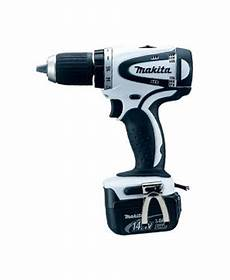 makita rechargeable driver drill 14 4v white battery two