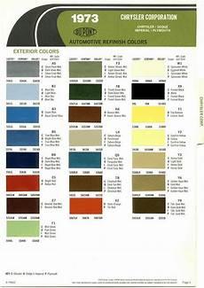 automotive paint color codes 1973 chrysler imperial