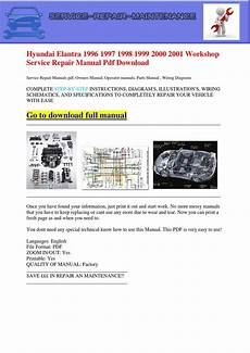 car owners manuals free downloads 1999 hyundai elantra on board diagnostic system hyundai elantra 1996 1997 1998 1999 2000 2001 workshop service repair manual pdf download by