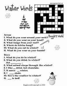 winter crossword worksheets 19981 crosswords for esl