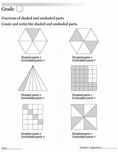 fraction worksheets shaded unshaded 4095 fractions of shaded and unshaded parts free fractions of shaded and unshaded parts