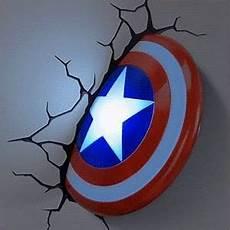 marvel captain america 3d shield night light