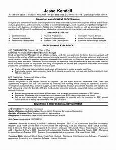 resume financial analyst best format amazing finance