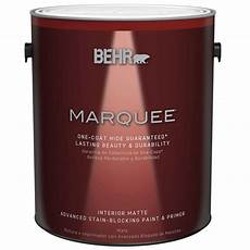 behr marquee 1 gal ultra pure white matte one coat hide interior paint and primer in one 145001