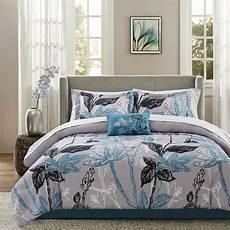 luxury aqua floral comforter cotton sheet 9 pcs cal king queen beautiful ebay
