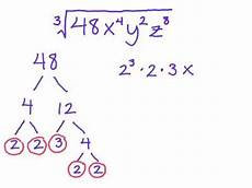 simplify a radical into simple radical form cube root with variables youtube