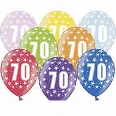ballon multicolore anniversaire 70 ans x6