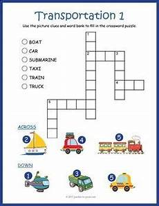 transport comprehension worksheets 15178 no prep transportation worksheets 2 transportation themed crossword puzzles with images