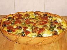 Rosenkohlauflauf Mit Kartoffeln - rosenkohlauflauf mit kartoffeln und schinken rezept mit