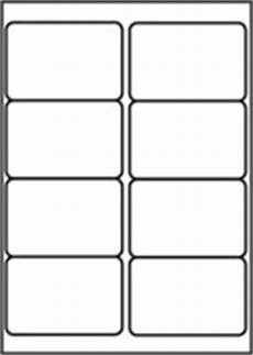 l7165 8 labels per page 8 up per a4 sheet