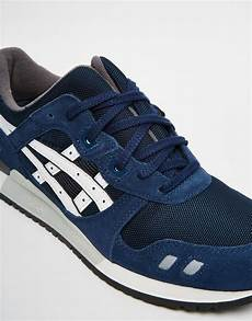 lyst asics gel lyte iii suede trainers in blue for