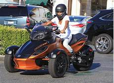 Pinkett Smith Out On 3 Wheeled Motorcycle