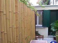 panneau bois bambou cloture reguliere avec tiges de bambou o 6 7 cm 2 60m