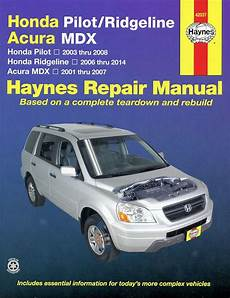 book repair manual 2008 acura mdx regenerative braking honda ridgeline pilot acura mdx repair manual 2001 2014 haynes 42037