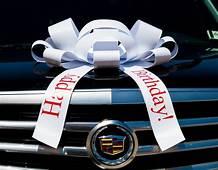 Happy Birthday Car Bow  Vinyl Magnetic Back No Scratch