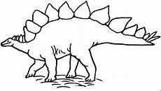 stehender stegosaurus ausmalbild malvorlage tiere