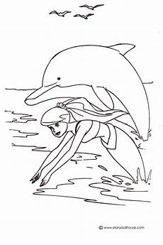 mermaid dolphin coloring pages foto 2017