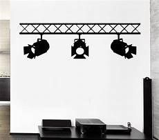 spotlights studio salon interior cinema cinematography mural vinyl wall decal art wall sticker