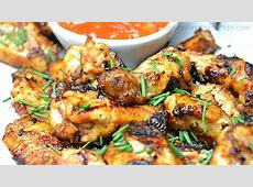 grilled spicy apricot chicken wings_image