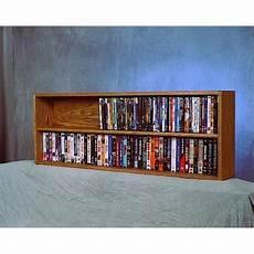 wood shed 210 4 w solid oak wall or shelf mount dvd vhs