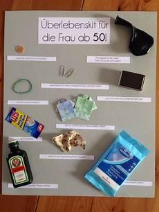 geschenke zum 50 survivalkit zum 50 geburtstag judithskreativwerkstatt