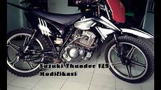 Modifikasi Thunder 125 by Suzuki Thunder 125 Modifikasi Kawasaki Klx 150 Makassar